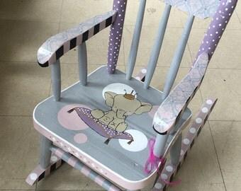 Childs Rocking Chair  Elephant Theme