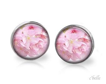 Earrings flowers - cherry blossom 3