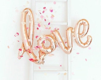 Giant Love Script Balloon | Rose Gold
