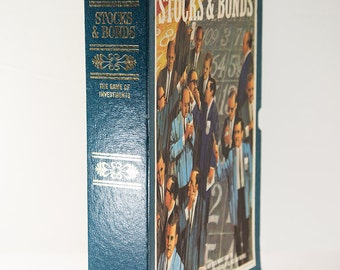 Vintage Stocks and Bonds Bookshelf Game 3M Company 1964 New Condition