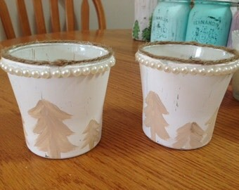 Woodland Chic Candle Holders