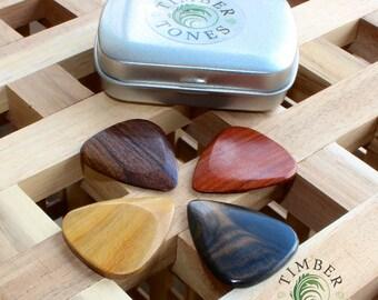 Timber Tones - Electric Guitar - Tin of Four Guitar Picks