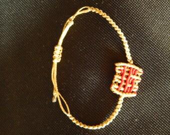 2016 macrame bracelet, good luck charm,macrame bracelet