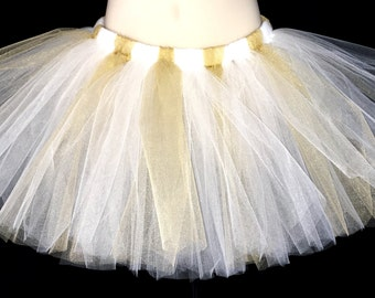 White and gold tutu | toddler tutu | gold tutu | newborn tutu | baby tutu | kids tutu | tutu skirt | birthday tutu | tutus for girls