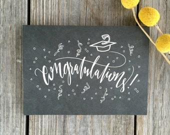 College Graduation Card, High School Graduation Card, Graduation Card, Congratulations Card