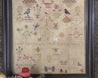 """HEARTSTRING SAMPLERY """"Sarah Boothman 1845"""" 