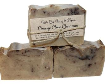 Orange Clove Cinnamon- Homemade Cold Process Soap
