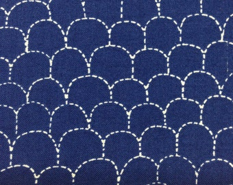 Hometown Girl Print Quilt True Blue Shingles by Pat Sloan for Moda 43063 24 Half Yard Cut and Yardage Available