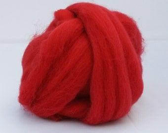 British Needle Felting Wool Red/Poppy - 25 g Shetland  - British felting wool - needle felting wool