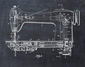 Patent Print of a Sewing Machine Patent Art Print Patent Poster
