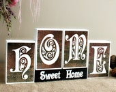 Gifts for Home - Entryway Sign - Home Sweet Home Wood Blocks - Mothers Day Present - Home Decor Blocks - Realtor Closing Gift - Mantle Decor