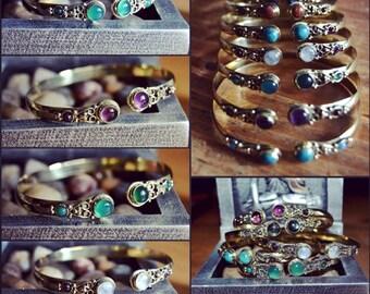 Indï Indï-Indï Jewelry Bracelet-Bracelets-Brass-Indï Mode-Indï Stone ~ ~