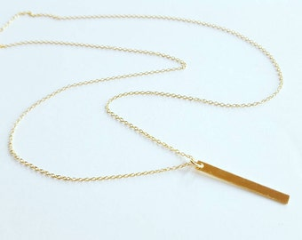 Gold Fill Bar Necklace