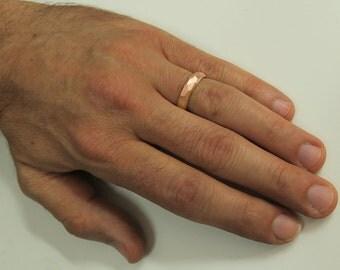 Wedding ring, Rose gold wedding band, Men's wedding ring, Men's wedding band, Modern wedding ring, Her wedding ring, Rose gold wedding ring