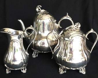 James Dixon and Sons Best Brittania Metal Tea Set