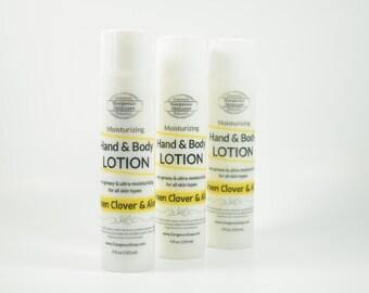 Green Clover Aloe Hand & Body Lotion - Natural Lotion, Homemade Hand Lotion, Handmade Face Lotion, Skin Care Body Cream, Skincare Hand Cream