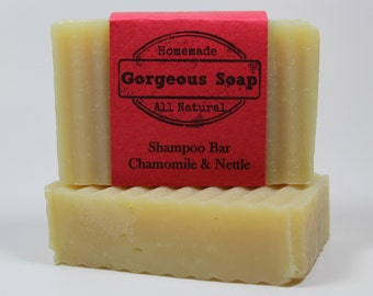 Nettle & Chamomile Shampoo Bar - All Natural Shampoo, Handmade Shampoo, Homemade Shampoo, Handcrafted Shampoo