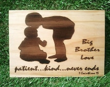 Big Brother little sister, Brother to Sister, gift from big brother to sister, sister to brother gift, big brother sign