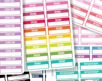 Design Your Own -  Information Box Planner Stickers -  Suits Most Planners