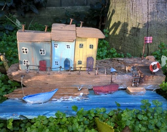 Driftwood cottages by the sea
