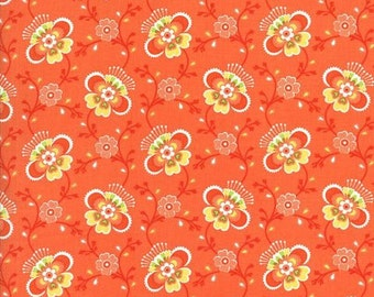 "Folklore Fabric by the Yard, Designed by Lily Ashbury for Moda, 100% cotton quilt fabric, 44"" Wide, 11483 16"