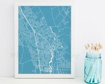 Napa Map Napa Art Napa Map Art Napa Print Napa Printable Napa City Art Napa City Map California Art