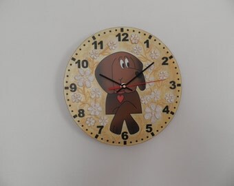Elephant clock for children. modern wall clock, nuircery decor, modern clock, child gift nurcery, houseware, wall clock