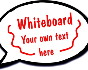 Whiteboard Wipeable Speech Bubble Photo Booth Prop 013-827