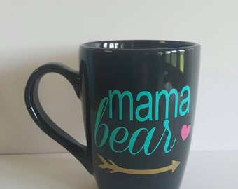 14oz Coffee Mug/Tea/tribal mug/tribe/Unique Gift/arrows/coffee/Love/pretty/mother's day/sweet gift/momma bear/new mom/mother/baby shower