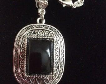 Black Onyx Statement Necklace