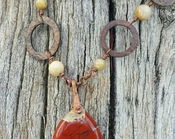 Red Jasper statement Necklace