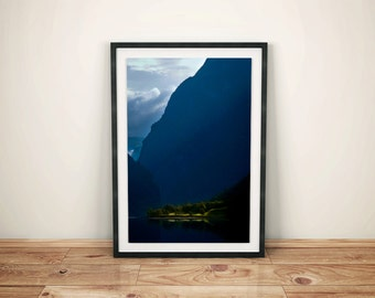 dawn wall art, travel poster, photos for living room, poster for living room, digital download photography, vertical wall art
