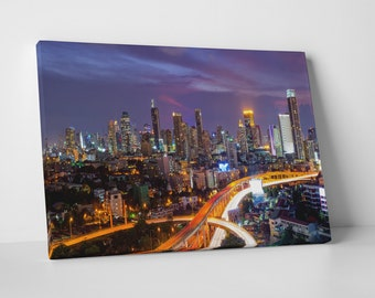 Dallas Texas Downtown Skyline Gallery Wrapped Canvas Print