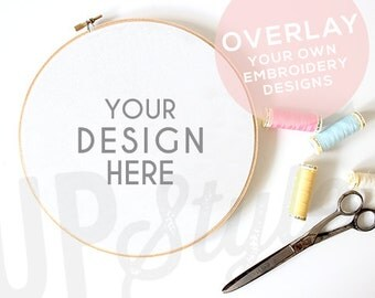 Styled Photograph Stock Photo - Embroidery Hoop Mock Up - Product Photograph A178