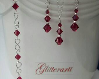 Swarovski Crystal jewellery - jewellery gift set - wedding jewellery - prom jewellery - jewelry gift set - wedding jewelry - prom jewelry