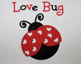 Valentines Onesie or toddler shirt Ladybug