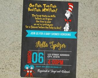 Dr Seuss Baby Shower Invitation, Dr Seuss Invitation, Dr Seuss, Baby Shower Invitation, Baby Shower Invite, Invitation