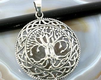 tree of life, silver pendant -  3055