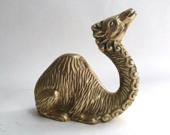 Groovy Cast Brass Camel Sculpture