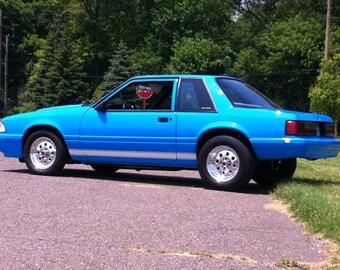 1979 - 1993 Fox Body Mustang Plain Side Rocker Stripe graphics set