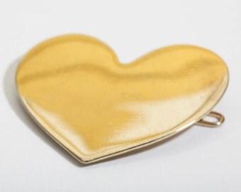 Gold Heart Barrette
