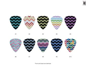 Zig Zag Pattern Guitar Pick Set (10pcs)