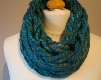 Cowl Scarf Infinity Scarf Arm Knitted Scarf neck warmer UK