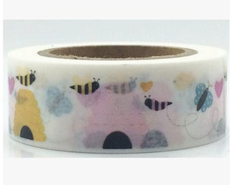 Bees Washi Tape/Japanese Washi Tape / Deco tape TZ908