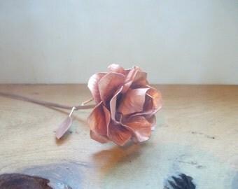 Copper rose, 15th wedding anniversary, Valentine love gift