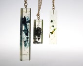 Gold Chained Clear Coloured Resin Necklace Sample