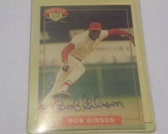 1994 Nabisco All- Star Legends Bob Gibson Autographed Card/COA