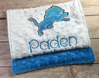 Alpha Delta Pi Burp Cloth Detroit Lions Set lupgrade Available Mix and Match  Made to Order, Monogramming Option