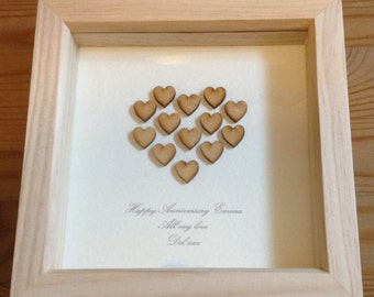 Wedding Anniversary Gifts Fifth Year : ... wedding anniversary gift wood anniversary present 5th anniversary gift