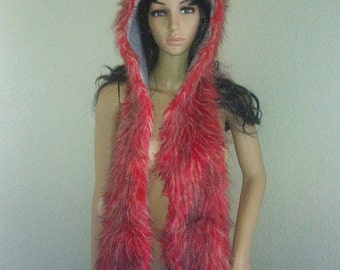 Red Falcon Rising Spirithood